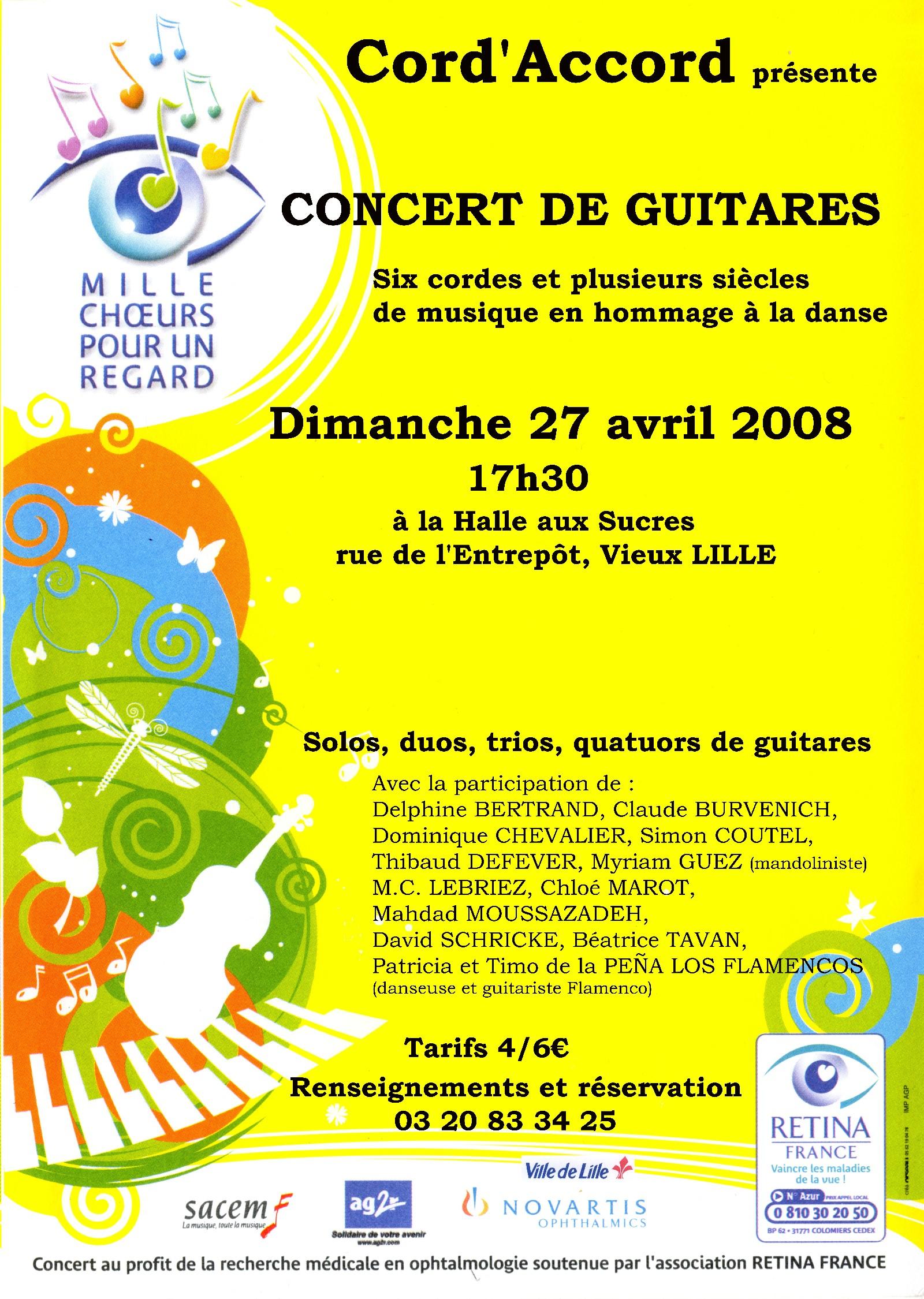 "Concert caritatif ""Rétina"""