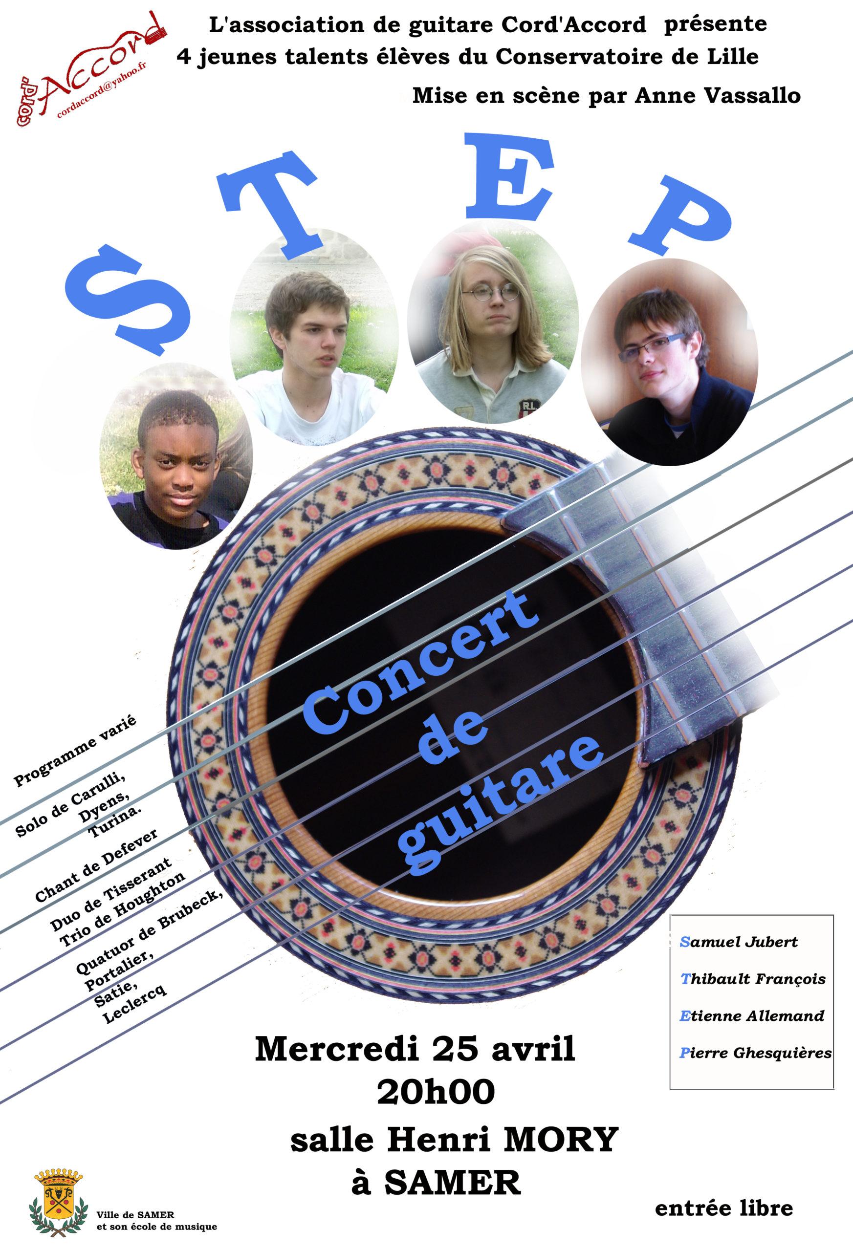 concert jeunes talents STEP